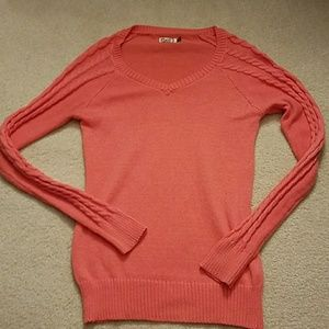 Salmon V Neck Sweater